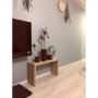 On Walls/観葉植物/IKEA/DIY/北欧/壁紙屋本舗/北欧ファブリック/WOODPRO/ブルーグレーの壁/マンション暮らし/NO GREEN NO LIFE!に関連する部屋のインテリア実例