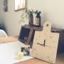 My Shelf/セリア/広松木工/kaoriちゃん♡/♡群馬の会♡/ワイヤープランツ水挿し/アイビー水挿し/RC北関東支部に関連する部屋のインテリア実例