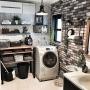女性で、Other、家族住まいの地下チック♡/ワイヤーバスケット/魅せる収納/パイプウォールラック/IKEA…などについてのインテリア実例を紹介。