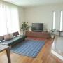 Lounge/無印良品/ラグ/ナチュラルインテリア/アクタス/マスターウォール/ウォルナット/広松木工/デニムラグ/積水ハウス/マリンスタイル/緑のある暮らし/キルティングラグに関連する部屋のインテリア実例