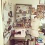 My Desk/DIY/トルソー/ドライフラワー/自己満クラブ会員NO.3/amoiちゃんのクマちゃん♡/kiraraちゃん/tonton4ちゃん/chibi-gangちゃん❤️/yuukoちゃん/SOS団❤️/インスタ始めました→yuko.1029に関連する部屋のインテリア実例