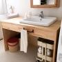 Bathroom/IKEA/洗面所/一軒家/イベント/無垢/白が好き/IKEAワゴン/静岡県民/イベント参加中/IKEAかがみ/ハートホーム/ハートホーム株式会社/静岡県に関連する部屋のインテリア実例