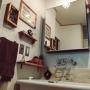 女性で、3LDK、家族住まいの塩系インテリアの会/築41年中古マンション/編み物/洗面所/アクリルたわし/Bathroom…などについてのインテリア実例を紹介。