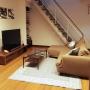 Lounge/リサラーソン/TUULI/リビング階段/sulut!/イッタラ kivi/イッタラカルティオ/マリメッコ ファブリックパネルに関連する部屋のインテリア実例