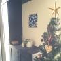 Entrance/北欧/北欧インテリア/ウンベラータ/クリスマスツリー/マリメッコ ファブリックパネル/白樺風かごに関連する部屋のインテリア実例