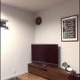 照明/ポスター/リビング/テレビボードに関連する部屋のインテリア実例