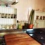 Kitchen/観葉植物/ダイソー/ナチュラル/IKEA/雑貨/100均/ハンドメイド/DIY/セリア/salut!/キャンドゥ/賃貸/タイルがピンクだけどがんばるに関連する部屋のインテリア実例