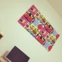 On Walls/雑貨/DIY/ファブリックパネル/一人暮らし/マリメッコ/北欧/marimekko/断熱材/マリメッコ ファブリックパネル/ケサトリに関連する部屋のインテリア実例