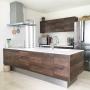 Kitchen/無印良品/北欧/モダン/シンプル/一軒家/ウォールナット/アセビ/積水ハウス/緑のある暮らしに関連する部屋のインテリア実例