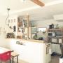 Kitchen/冷蔵庫/セリア/キッチンカウンター/広松木工/ディアウォール/SPF材/♡群馬の会♡/イングリッシーナ/RC北関東支部/shiiiipon0807_home/インスタID⇨に関連する部屋のインテリア実例