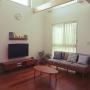Lounge/無印良品/北欧インテリア/バーチカルブラインド/吹き抜けリビング/イベント用/unico TVボード/無印良品 壁に付けられる家具/unico ソファ/unico /こどもと暮らす。/定点観測に関連する部屋のインテリア実例