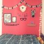 女性で、4LDK、家族住まいのミックスインテリア/子供部屋/アクセントウォール/壁紙DIY/IKEA…などについてのインテリア実例を紹介。