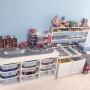 My Shelf/IKEA/イケア/子ども部屋/おもちゃ/トミカ/トイストーリー/おもちゃ収納/トロファスト/ペンキ塗り/カーズ/プラレール収納/整理収納/シンプル 白/skubb/スクッブに関連する部屋のインテリア実例