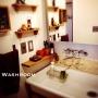女性で、3LDK、家族住まいのBathroom/塩系インテリアの会/ダイソー/黒板塗料/セリア/洗面所…などについてのインテリア実例を紹介。