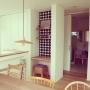 Lounge/雑貨/マリメッコ/北欧/marimekko/壁紙/ミナペルホネン/ランプシェード/mina perhonen/渡邊浩幸/バーズワーズシルクスクリーン/コロロスツールに関連する部屋のインテリア実例