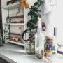 My Shelf/植物/ハンドメイド/DIY/ドライフラワー/男前もナチュラルも好き/瓶が好き/サンプリング/メイソンジャーフラワー/サンジョルディフラワーズに関連する部屋のインテリア実例