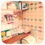 Kitchen/カラフル/収納/100均/DIY/手作り/北欧/セリア/salut!/団地/壁紙/ニッセン/seria/nissen/DIY棚/salut !に関連する部屋のインテリア実例