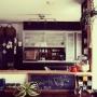 Kitchen/インテリア/収納/100均/フェイクグリーン/いなざうるす屋さん/Instagram→andante365/卑猥組/アメブロ→andante365/渋ナチュ系インテリアに関連する部屋のインテリア実例