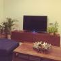Lounge/テレビ/テレビ台/マンション/テレビボード/ウォールナット材/広松木工/ウォールナット家具/RC茨城支部/広松木工TVボードに関連する部屋のインテリア実例