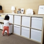 Overview/IKEA/イケア/子供部屋/収納/100均/ニトリ/シンプル/キッズルーム/こども部屋/こどもと暮らす。/モノトーン収納に関連する部屋のインテリア実例
