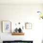 Lounge/IKEA/モビール/100均/エアプランツ/波佐見焼/壁に付けられる家具/さぼてん/賃貸でも楽しく♪に関連する部屋のインテリア実例