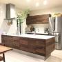 Kitchen/無印良品/北欧/モダン/シンプル/一軒家/ウォールナット/北欧モダン/ドウダンツツジ/積水ハウス/緑のある暮らしに関連する部屋のインテリア実例