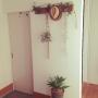 Entrance/100均/DIY/セリア/フェイクグリーン/いなざうるす屋さん/アガベ/キセログラフィカに関連する部屋のインテリア実例