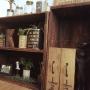 My Shelf/観葉植物/エアプランツ/りんご箱/ステンシル/男前/みどりの雑貨屋さん/メイソンジャー/いなざうるす屋さん♡/ブックスタンドDIYに関連する部屋のインテリア実例