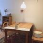 My Desk/無印良品/照明/IKEA/手ぬぐい/DIY/ダイニングテーブル/北欧/ドライフラワー/unico/ルイスポールセン/北欧インテリア/マンションインテリア/momo natural/素朴/Daiso/自然素材/トルボー/ウールラグに関連する部屋のインテリア実例