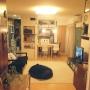 Lounge/ダイニング/DIY/ベニヤ板/カラーボックスリメイク/黒板DIY/チョークボードペイント/建売住宅/テレビボードリメイク/こどもと暮らす。/定点観測/IKEAの家具に関連する部屋のインテリア実例