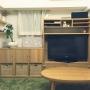 Lounge/観葉植物/無印良品/IKEA/雑貨/テレビ台/100均/ハンドメイド/北欧/多肉植物/ドライフラワー/フェイクグリーン/デコパージュキャンドル/マリメッコ ファブリックパネル/と見せかけてアイロン台/おしゃれコタツに関連する部屋のインテリア実例