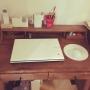 女性で、4LDK、家族住まいのMy Deskについてのインテリア実例を紹介。