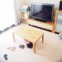 Lounge/無印良品/ダイソー/100均/キャンドゥ/ジョイントマット/シンプルナチュラル/フライングタイガーコペンハーゲン/ブログにものせます。/こどもと暮らす。に関連する部屋のインテリア実例