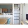 Lounge/無印良品/ダイソー/IKEA/イケア/食器棚/無印/収納/アクセントクロス/unico/新居/シンプル/LDK/新築/ウニコ/おうち/ストッケ/マイホーム/造作棚/トリップトラップ/注文住宅/粘土ケース/ブルーグレー/Myhomeに関連する部屋のインテリア実例