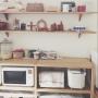 Kitchen/無印良品/マリメッコ/缶/かご/marimekko/ミナペルホネン/mina perhonen/無印良品 /イサドに関連する部屋のインテリア実例