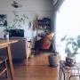 Overview/IKEA/レトロ/北欧/3Coins/marimekko/北欧インテリア/momo natural/無垢テーブル/観葉植物のある部屋/ブルーベリー/賃貸マンション/ていねいに暮らしたい/緑のある暮らしに関連する部屋のインテリア実例