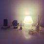My Desk/地球儀/照明/IKEA/一人暮らし/momo natural/シンプルインテリアに関連する部屋のインテリア実例
