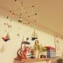 My Shelf/雑貨/モビール/ドリームペット/Tinサインに関連する部屋のインテリア実例
