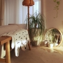 Lounge/観葉植物/無印良品/照明/北欧/マンション/北欧インテリア/マンションインテリア/タイルカーペット/ヤコブソンランプに関連する部屋のインテリア実例