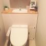 女性で、3LDK、家族住まいのトイレ/タンクレス DIY/プチプラ/トイレ改造計画/DIY/コンテスト参加します☆…などについてのインテリア実例を紹介。