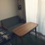 Lounge/ソファ/一人暮らし/北欧/ニトリ/unico/1K/marimekko/カフェテーブル/ミナペルホネン/クリッパン/ウニッコ/マリメッコ ファブリックパネルに関連する部屋のインテリア実例