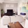 Overview/観葉植物/無印良品/照明/IKEA/DIY/北欧/フランフラン/アクタスのソファ/狭めのリビングですに関連する部屋のインテリア実例