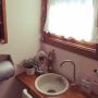 Bathroom/観葉植物/ナチュラル/雑貨/カフェ風/ドライフラワー/salut!/カントリー/ブリキ/シャンペトルシャビーに関連する部屋のインテリア実例