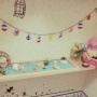 Bathroom/100均/DIY/手作り/リメイク/セリア/つっぱり棚/マリンディスプレイに関連する部屋のインテリア実例