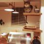 Kitchen/多肉植物/フレイム照明/ねこと暮らす。に関連する部屋のインテリア実例
