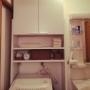 女性で、4LDK、家族住まいのDIY/洗濯機ラック/収納/シンプル/Bathroomについてのインテリア実例を紹介。