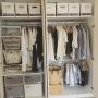 My Shelf/IKEA/クローゼット/かご/Francfranc/ニトリ/洋服収納/セリア/salut!/おもちゃ収納/衣替え/衣装ケース/幼稚園グッズ/麻ひもバック/Plenty Box/ALGOT/こどもと暮らす。に関連する部屋のインテリア実例