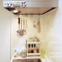 Kitchen/ダイソー/ハンドメイド/DIY/ドライフラワー/セリア/3Coins/ナチュラルキッチン/マイホーム/ナチュラルとディズニーの共存に関連する部屋のインテリア実例
