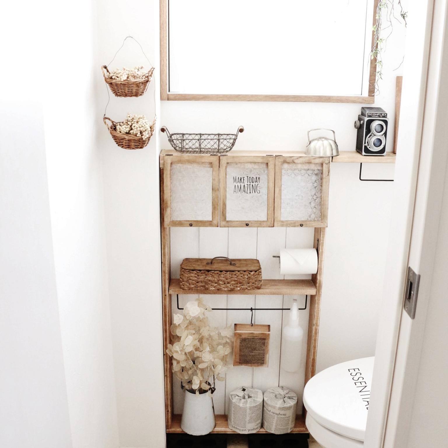 狭いトイレを有効活用!トイレの収納活用アイデア♪ | RoomClip mag | 暮らしとインテリアのwebマガジン