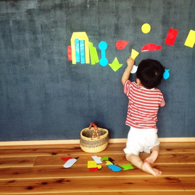 壁に落書きしても怒られないお家